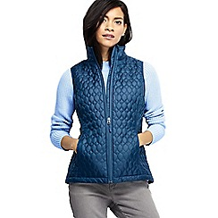 Lands' End - Blue women's primaloft packable gilet
