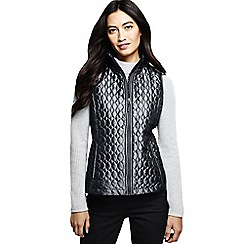 Lands' End - Grey primaloft packable gilet  shimmer