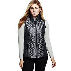 Lands' End - Grey plus primaloft packable gilet and shimmer