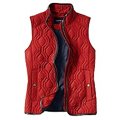 Lands' End - Orange women's quilted primaloft gilet