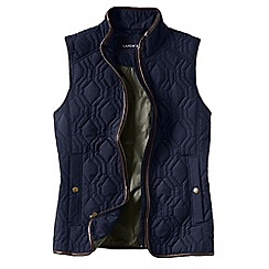 Lands' End - Blue women's quilted primaloft gilet
