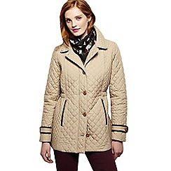 Lands' End - Beige women's quilted primaloft parka