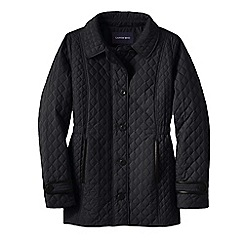Lands' End - Black women's quilted primaloft parka