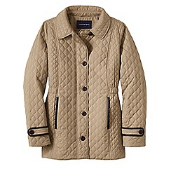 Lands' End - Beige plus quilted primaloft parka