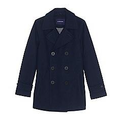 Lands' End - Blue men's regular wool pea coat