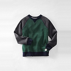 Lands' End - Green little boys' colourblock sweatshirt