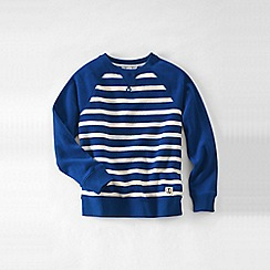 Lands' End - Blue little boys' stripe sweatshirt