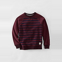 Lands' End - Red boys' stripe sweatshirt