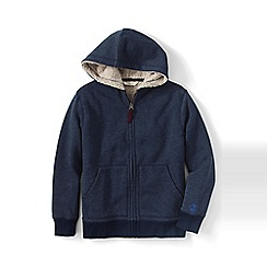 Lands' End - Boys Toddle Blue colourblock sherpa-lined hoodie