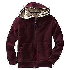 Lands' End - Boys Toddle Purple colourblock sherpa-lined hoodie