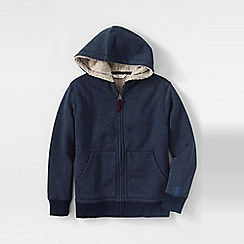 Lands' End - Blue little boys' sherpa-lined hoodie