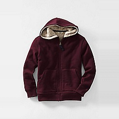 Lands' End - Purple little boys' sherpa-lined hoodie