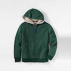 Lands' End - Green little boys' sherpa-lined hoodie