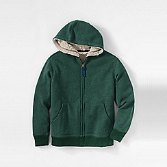 Lands' End - Green boys' sherpa-lined hoodie