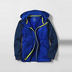 Lands' End - Blue boys' zip-front hooded tricot jacket