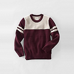 Lands' End - Purple little boys' drifter varsity crew neck sweater