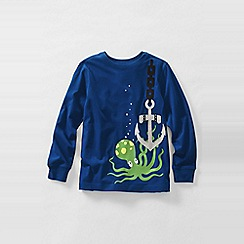 Lands' End - Blue long sleeve applique graphic tee