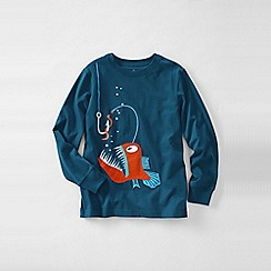 Lands' End - Blue little boys' long sleeve applique graphic tee
