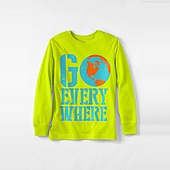Lands' End - Yellow boys' long sleeve graphic tee