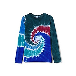 Lands' End - Boys' blue long sleeve tie-dye super-t