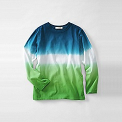 Lands' End - Green boys' long sleeve tie-dye super-t