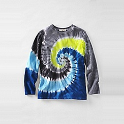 Lands' End - Blue boys' long sleeve tie-dye super-t
