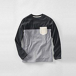 Lands' End - Grey boys' colourblock tee