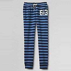 Lands' End - Blue little girls' pattern jogging bottoms