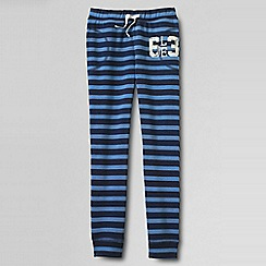 Lands' End - Blue girls' pattern jogging bottoms
