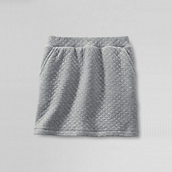 Lands' End - Grey little girls' quilted pull on skort