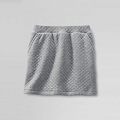 Lands' End - Grey girls' quilted pull on skort