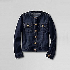 Lands' End - Blue girls' denim crew neck jacket