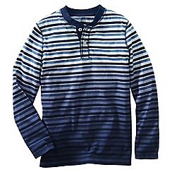Lands' End - Blue little boys' dip-dye stripe henley tee