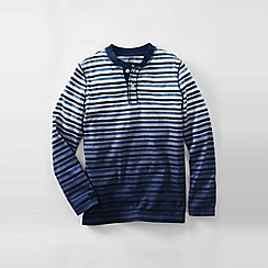 Lands' End - Blue boys' dip-dye stripe henley tee