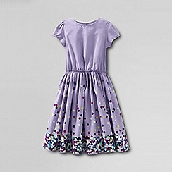 Lands' End - Purple little girls' short sleeve gathered waist twirl dress
