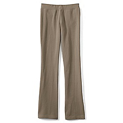 Lands' End - Beige girls' bootcut yoga pants