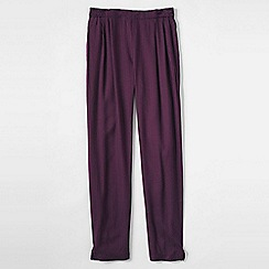 Lands' End - Purple little girls' drapey print twill trousers