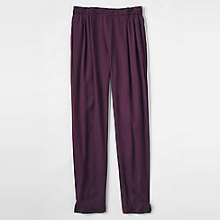 Lands' End - Purple girls' drapey print twill trousers