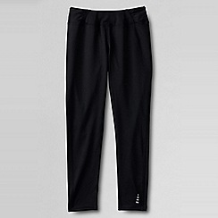 Lands' End - Black little girls' activewear leggings