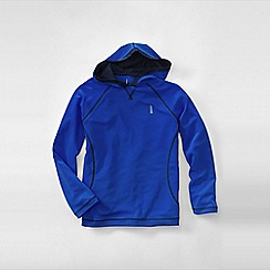 Lands' End - Blue boys' hooded active tee