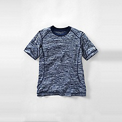 Lands' End - Blue boys' short sleeve space dye active tee