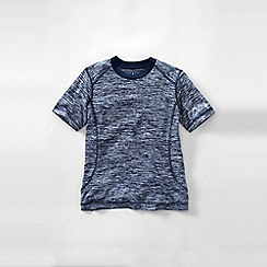Lands' End - Blue little boys' short sleeve space dye active tee