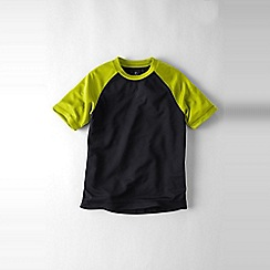 Lands' End - Black boys' short sleeve raglan active tee