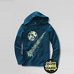 Lands' End - Blue little boys' glow-in-the-dark graphic jersey hoodie