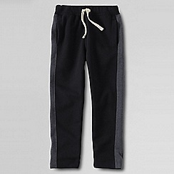 Lands' End - Black little boys' side-stripe jogging bottoms