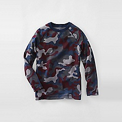 Lands' End - Grey boys' camo print raglan tee