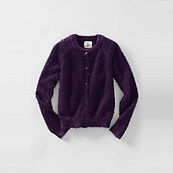 Lands' End - Purple little girls' cosy sophie cardigan