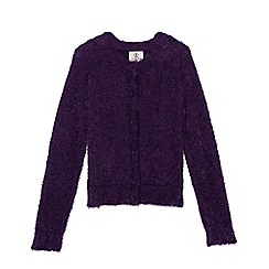 Lands' End - Purple girls' cosy sophie cardigan