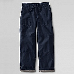 Lands' End - Blue boys' iron knee jersey-lined beach trousers