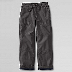 Lands' End - Grey boys' iron knee jersey-lined beach trousers